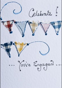 Bunting on White Card