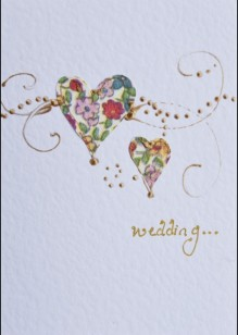Patterned Hearts on White Card