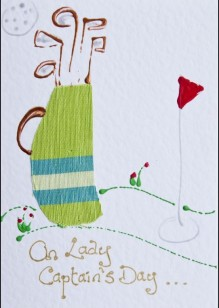 Golf Bag on White Card