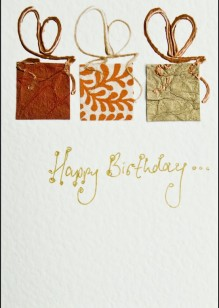 Gold/Orange Parcels on Cream Card
