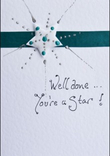 Star on White Card
