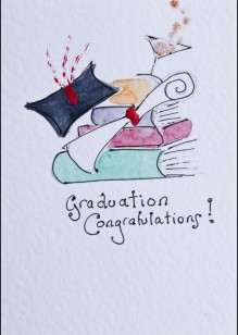 Graduation on White Card