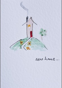Little House on White Card