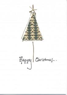 Geometric Fabric Christmas Tree