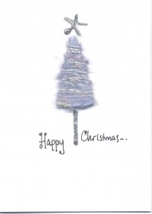 Powder Blue Wool Christmas Tree
